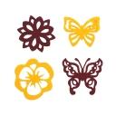 Фигурки из фетра Бабочки/Цветочки (4шт)