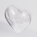 Сердце прозрачное d=10см (2 половинки)
