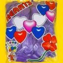 Шар сердце М10/25см (декор/пастель) (100шт)