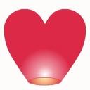 Фонарик сердце большое d=50, h=160