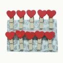 Прищепки Сердце (10шт)