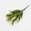 Ветка с бел цветами 30см