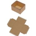 Коробка с ажурным краем гофрокартон (10/8/5см) 5шт БЕЗ СБОРКИ
