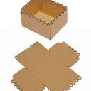 Коробка с ажурным краем гофрокартон (15,5/12/8см) 5шт БЕЗ СБОРКИ