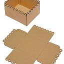 Коробка с ажурным краем гофрокартон (20,5/16,5/10,5см) 5шт БЕЗ СБОРКИ