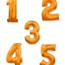 Шар фигура (миларовый) Цифра 35см