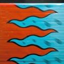 Рулон  70см цветной (пламя)