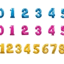 Шар фигура (миларовый) Цифра 91см